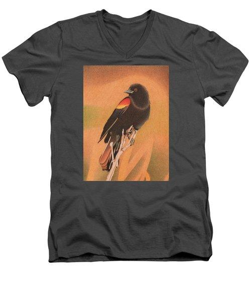 Red-winged Blackbird 3 Men's V-Neck T-Shirt