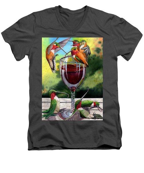 Red Winos Men's V-Neck T-Shirt