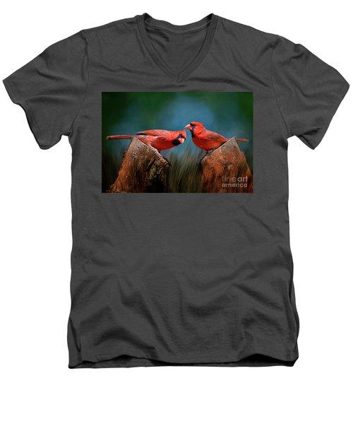 Redbird Sentinels Men's V-Neck T-Shirt