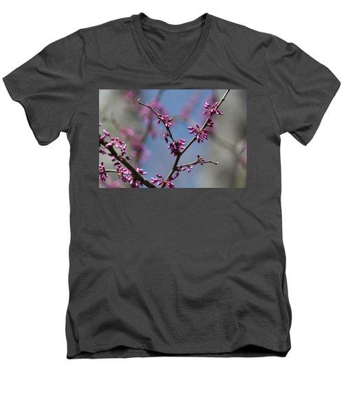 Redbud Men's V-Neck T-Shirt
