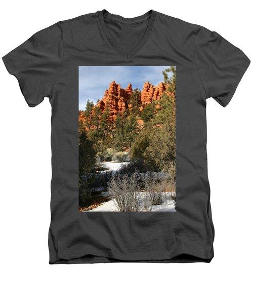 Redrock Winter Men's V-Neck T-Shirt