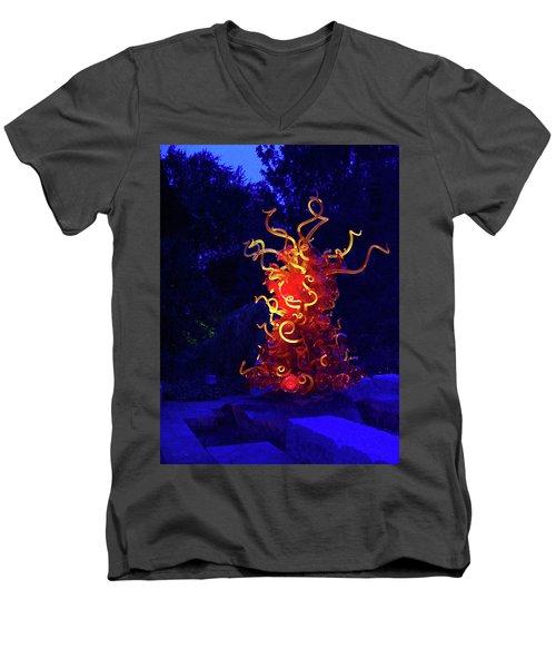 Redyellowbluenight Men's V-Neck T-Shirt