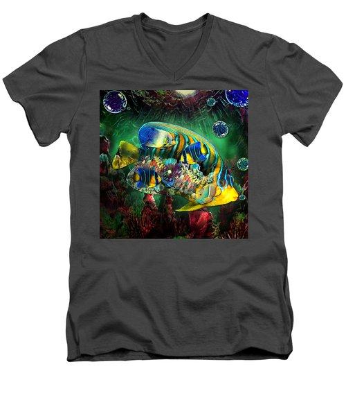 Reef Fish Fantasy Art Men's V-Neck T-Shirt