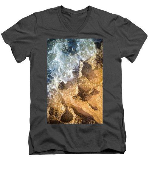 Reefy Textures Men's V-Neck T-Shirt