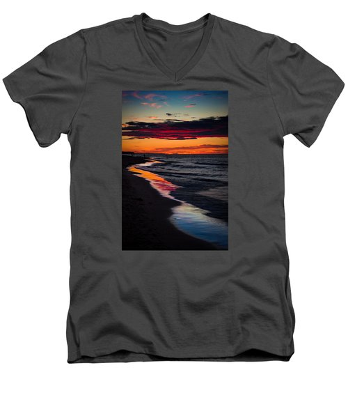 Reflect On This Men's V-Neck T-Shirt by Peter Scott