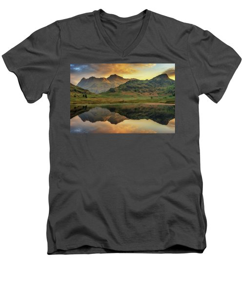 Reflected Peaks Men's V-Neck T-Shirt