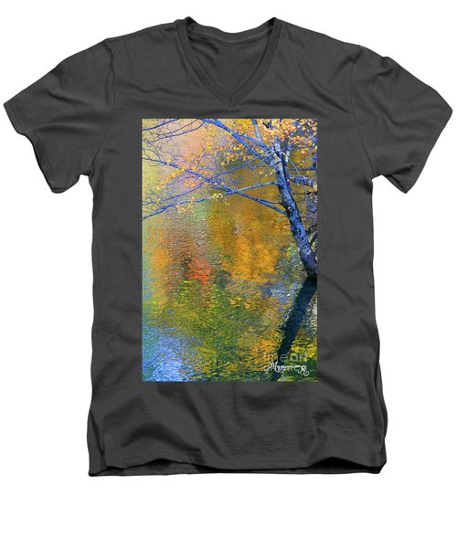 Reflecting Autumn Men's V-Neck T-Shirt