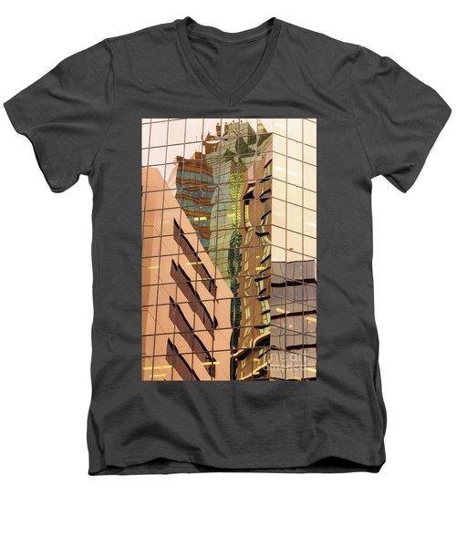 Reflecting Eagle 4 Men's V-Neck T-Shirt