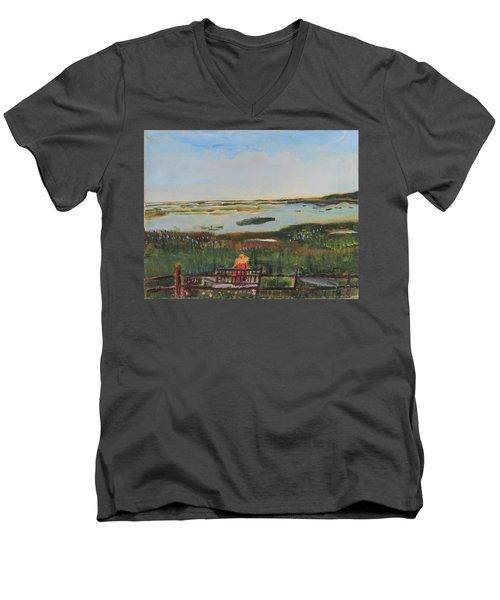 Reflecting Men's V-Neck T-Shirt