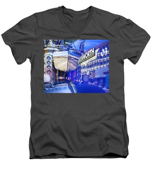 Reflecting On A Kenworth Men's V-Neck T-Shirt