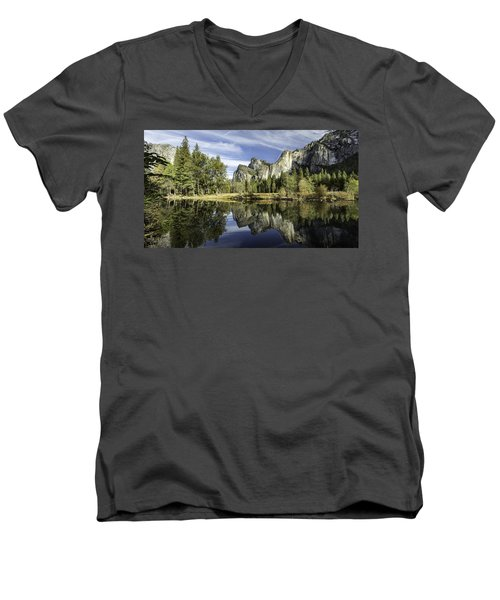 Reflecting On Yosemite Men's V-Neck T-Shirt