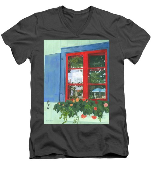 Reflecting Panes Men's V-Neck T-Shirt by Lynne Reichhart
