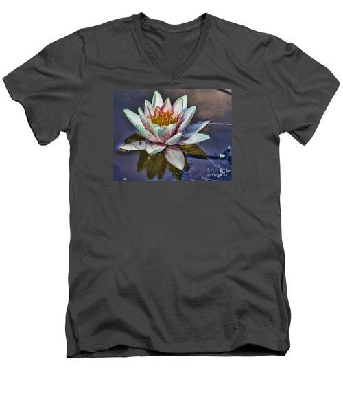 Reflecting Petals Men's V-Neck T-Shirt by Steven Parker