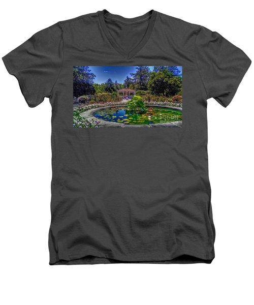 Reflecting Pool At Colonial Park Men's V-Neck T-Shirt