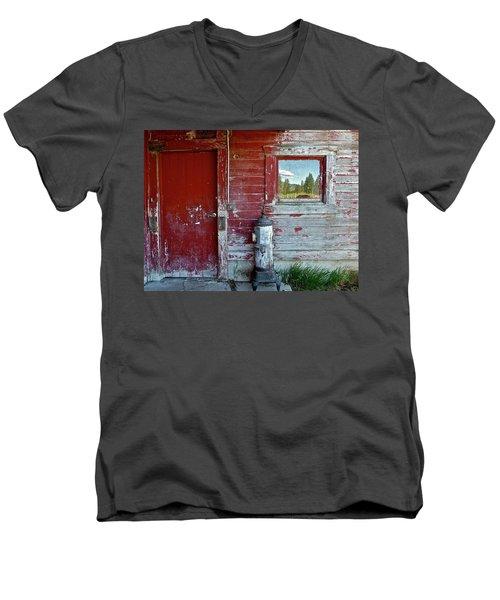 Reflecting The Landscape Men's V-Neck T-Shirt