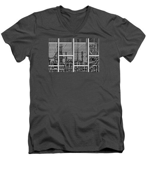 Reflection Men's V-Neck T-Shirt by DJ Florek