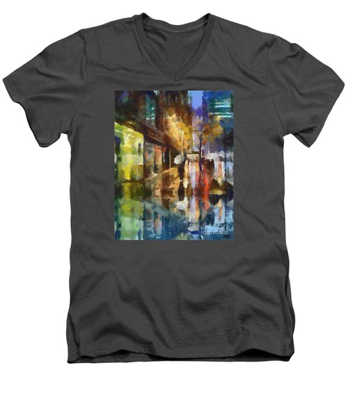 Reflection In The Rain Men's V-Neck T-Shirt