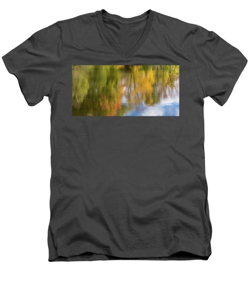 Reflection Of Fall #1, Abstract Men's V-Neck T-Shirt