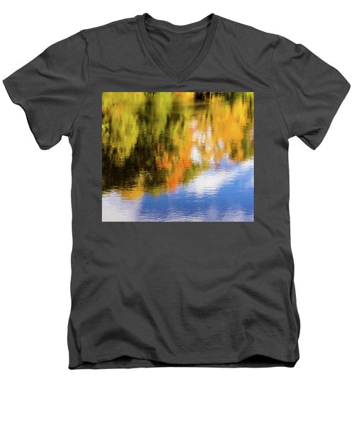 Reflection Of Fall #2, Abstract Men's V-Neck T-Shirt