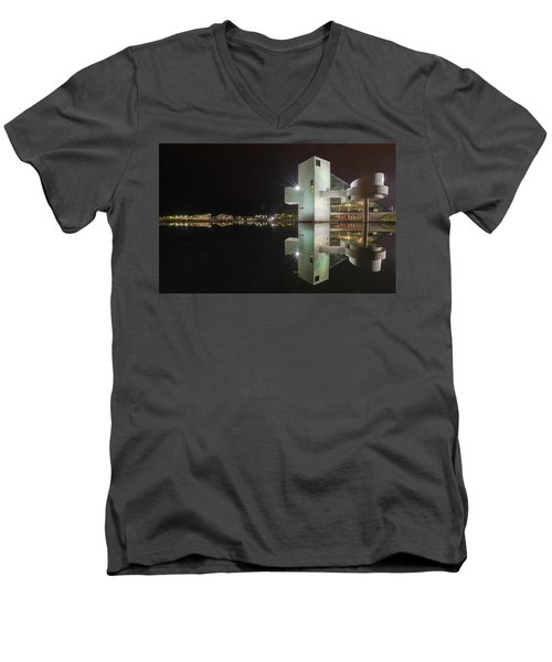 Reflection Of Rock And Roll In Cleveland Men's V-Neck T-Shirt