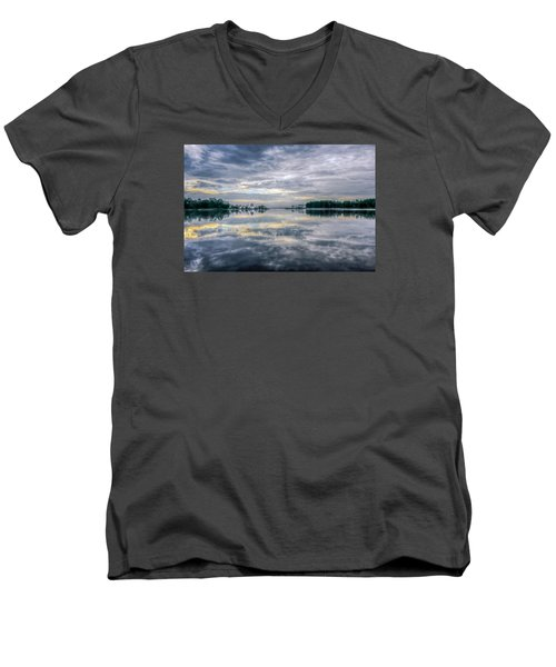 Men's V-Neck T-Shirt featuring the photograph Reflection by Rob Sellers