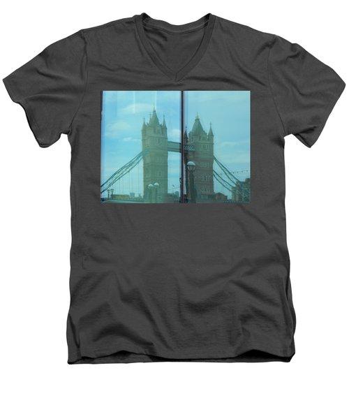 Reflection Tower Bridge Men's V-Neck T-Shirt