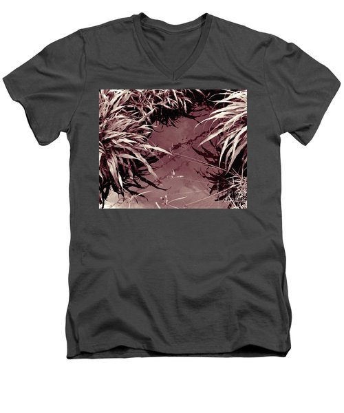 Reflections 2 Men's V-Neck T-Shirt by Mukta Gupta