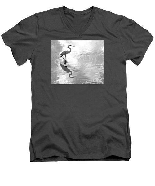 Reflections And Ripples Men's V-Neck T-Shirt by Christy Ricafrente