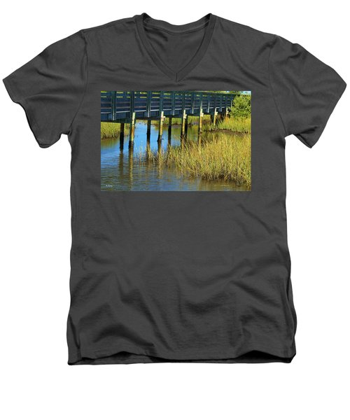 Reflections And Sea Grass Men's V-Neck T-Shirt