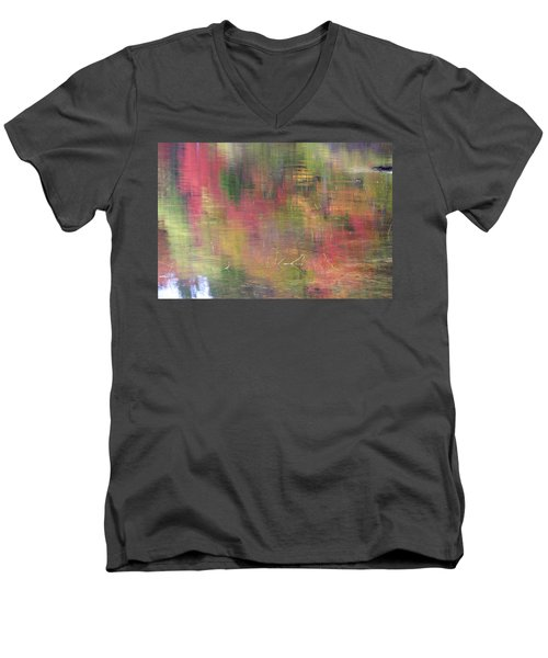 Reflections Men's V-Neck T-Shirt by Catherine Alfidi