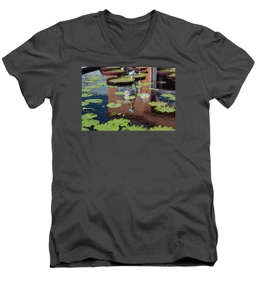 Men's V-Neck T-Shirt featuring the photograph Reflections II by Suzanne Gaff