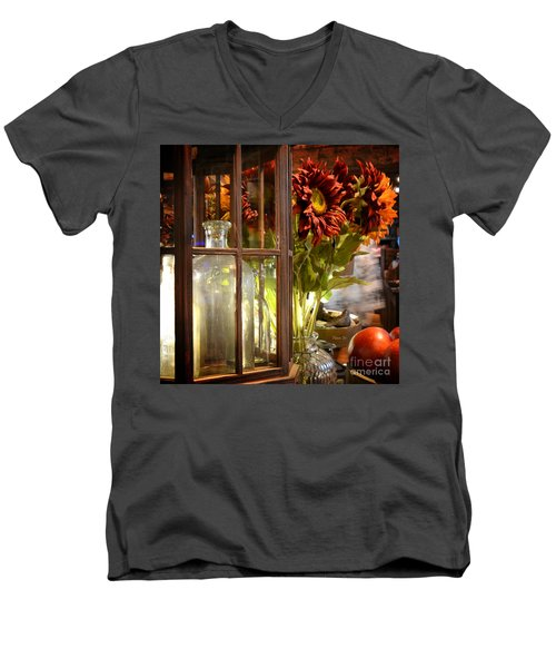 Reflections In A Glass Bottle Men's V-Neck T-Shirt