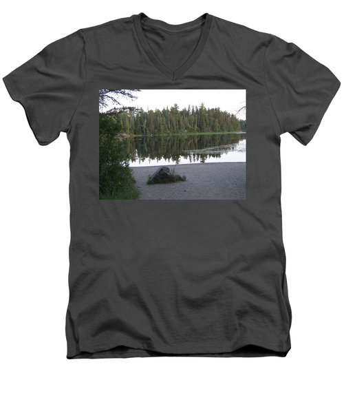 Reflections Lake 1 Men's V-Neck T-Shirt