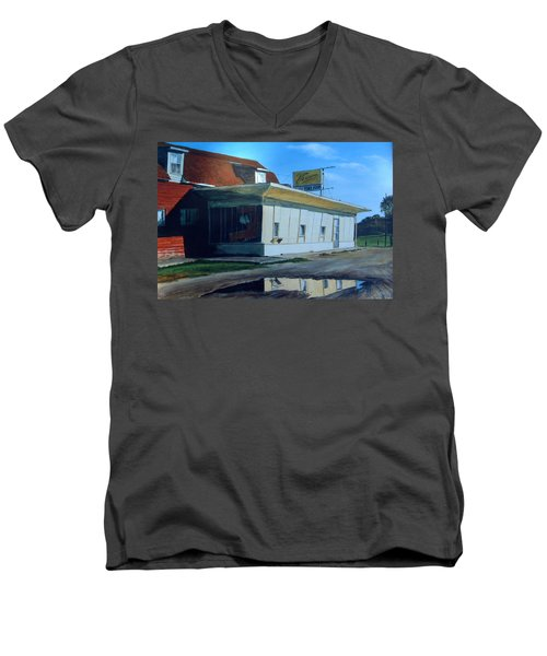 Reflections Of A Diner Men's V-Neck T-Shirt