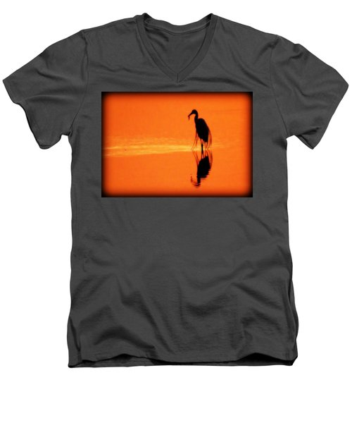 Reflections Of A Heron Men's V-Neck T-Shirt