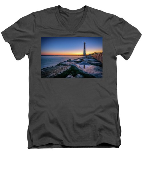 Reflections Of Barnegat Light Men's V-Neck T-Shirt
