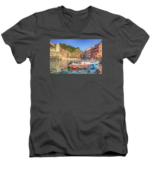 Reflections Of Italy Men's V-Neck T-Shirt by Brent Durken