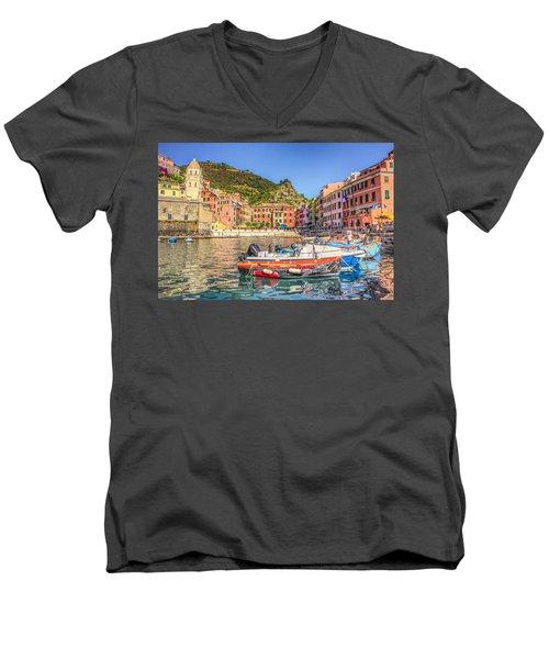 Reflections Of Italy Men's V-Neck T-Shirt