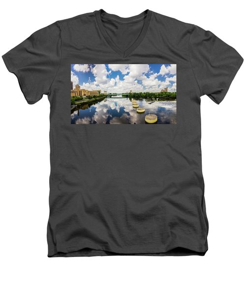 Reflections Of Minneapolis Men's V-Neck T-Shirt