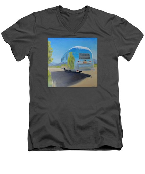 Reflections Of Mountain And Sage Men's V-Neck T-Shirt