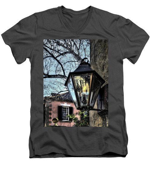 Men's V-Neck T-Shirt featuring the photograph Reflections Of My Life by Jim Hill