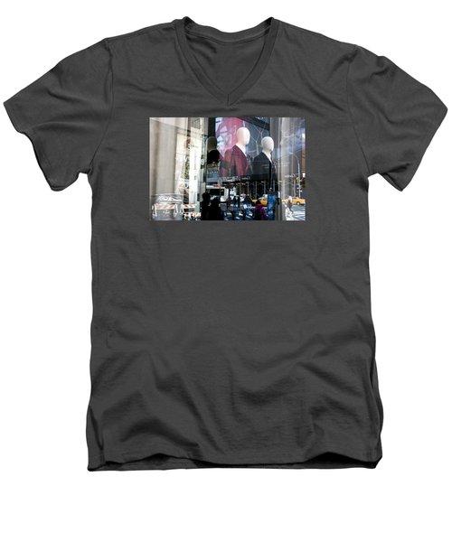 Reflections Of New York Men's V-Neck T-Shirt