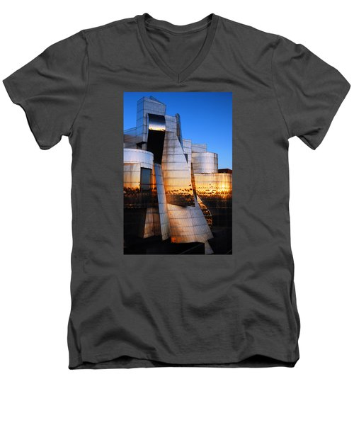 Reflections Of Sunset Men's V-Neck T-Shirt by James Kirkikis