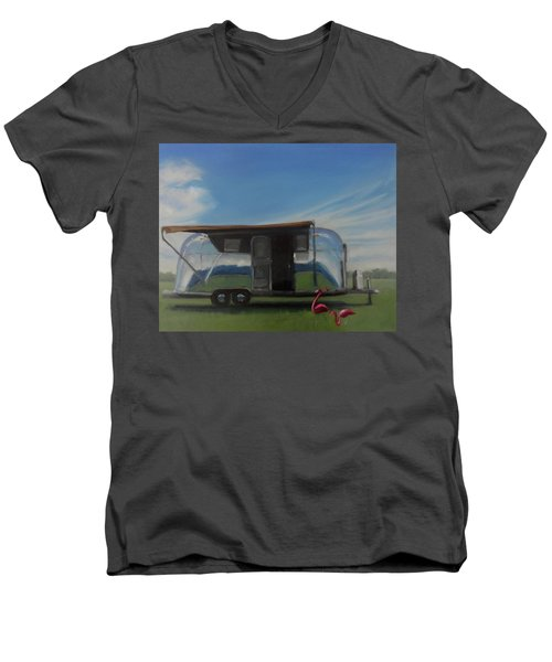 Reflections Of The Airstream Factory Men's V-Neck T-Shirt