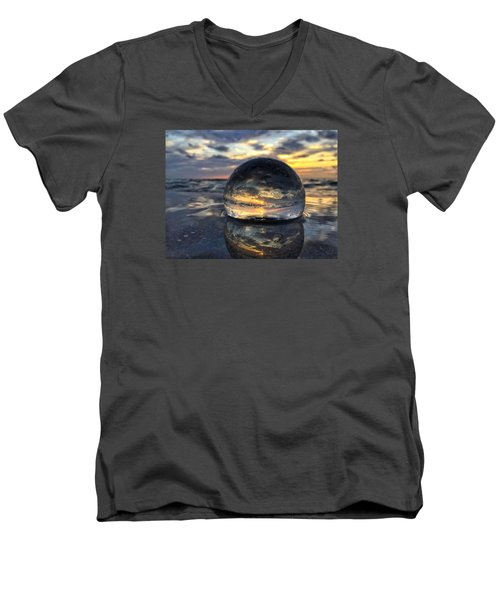 Reflections Of The Crystal Ball Men's V-Neck T-Shirt