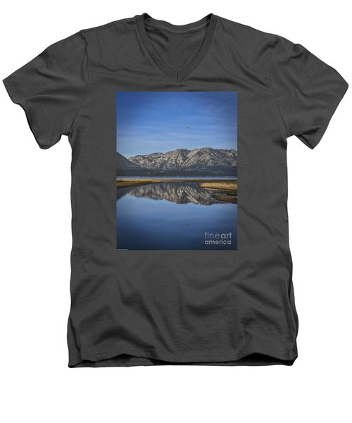 Men's V-Neck T-Shirt featuring the photograph Reflections Of The Morning by Mitch Shindelbower