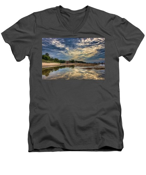 Reflections On The Beach Men's V-Neck T-Shirt