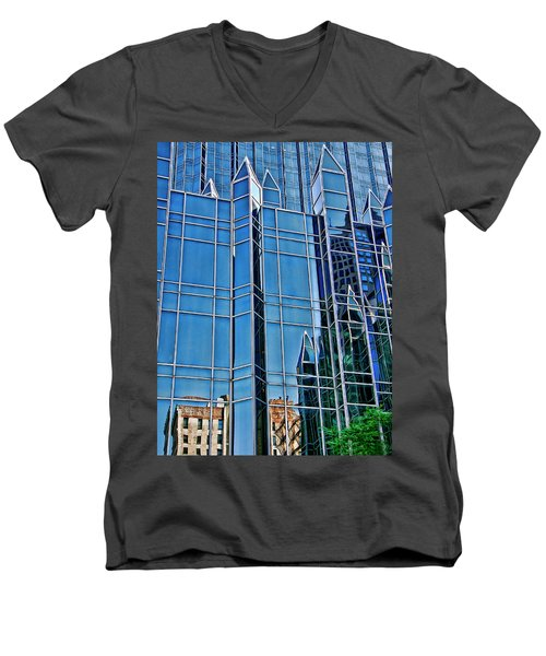 Reflections Men's V-Neck T-Shirt by Rhonda McDougall