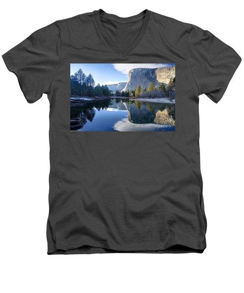Reflections Men's V-Neck T-Shirt by Rod Jellison