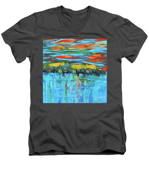 Reflections Sky And Landscape Abstract Men's V-Neck T-Shirt